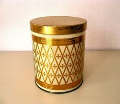 German Vintage Coffee Canister Tin box from sixties by Lunartics
