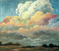 """""""Passing to the North, Sky by Amie Jacobsen 250 Skies Project oil on panel Clouds, Sky, Sculpture, Projects, Outdoor, Painting, Design, Heavens, Art"""