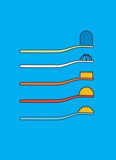 Cepillos de dientes de los Simpsons