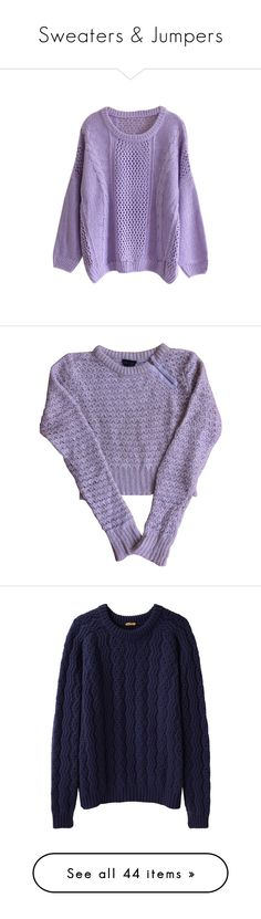 """""""Sweaters & Jumpers"""" by chelseapetrillo ❤ liked on Polyvore featuring Sweater, Jumpers, sweaters, jumper, crewneck, tops, shirts, jumpers, batwing sleeve shirt and purple jumper"""