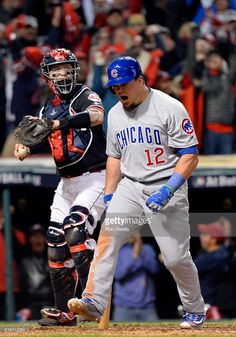 ROberto Perez,CLE/Kyle Schwarber,CHC//Oct 25,2016 Game 1 World Series