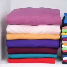 Save space when folding your clothes Ideas clothes Clothing hacks videos folding Save Space Diy Clothes Hacks, Diy Clothes And Shoes, Diy Clothes Videos, Clothing Hacks, Bedroom Organization Diy, Home Organization Hacks, Organizing, Diy Crafts Hacks, Diy Home Crafts