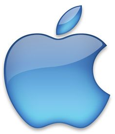 Apple Logo - Blue