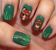 fox and the hound nail art