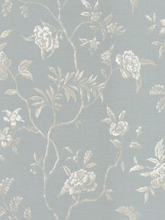 Swedish Tree Old Blue wallpaper by Colefax and Fowler