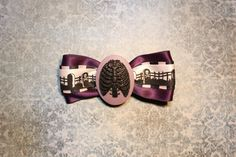 Death Rib Cage Hair Bow  Purple by RiotGearHairBows on Etsy, $8.00