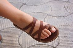 Leather Sandals Women's Sandals Brown or Black by ForGoodPeople, $60.00