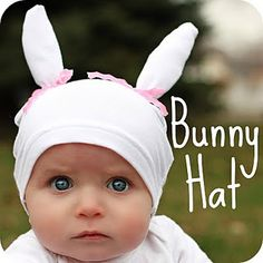 Baby Bunny Hat    Made from a t-shirt!    www.the-red-kitchen.com