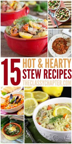 Fall is the perfect time of year to cook up some yummy soups and stews. You are going to love these 15 easy stew recipes.