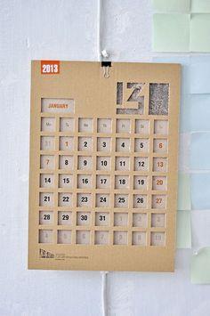 IZOLYATSIA 2013 calendar by Dmitry Sergeev, via Behance