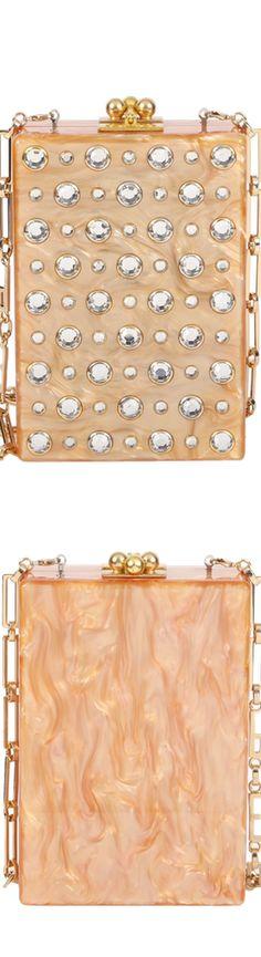 Edie Parker Carol Stud Clutch Bag, Caramel Pearlescent