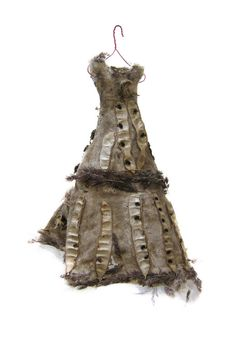 Beatrice Oettinger. Wild dresses. miniature dresses adorned with seeds, grasses and flowers found on walks through the wild spaces of Berlin