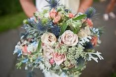 navy and pale pink wedding
