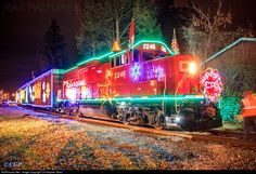 For the first time, the Canadian Pacific Holiday Train takes over the Colonie Main since CP no longer owns the south end. Here is the CP 2246 leading the Canadian Pacific Holiday Train, a great way to start off the 2015 Holiday Season! Train Art, By Train, Train Tracks, Holiday Train, Christmas Train, Christmas Lights, Diesel Locomotive, Steam Locomotive, Canadian Pacific Railway