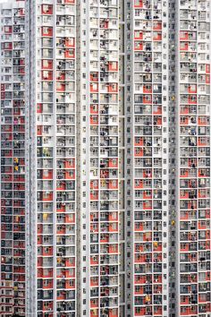 Multicolor highrise, Hong Kong, 2014, photograph by Lam Yu. * 1500 free paper dolls and toys Chinese paper dolls at The China Adventures of Arielle Gabriel, also free Chinese toys at Arielle Gabriels The Internaitonal Paper Doll Society *