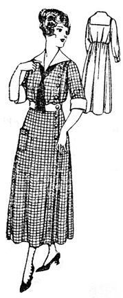 5a39469417d188 Past Patterns  Ladies  House Dress  Circa 1921