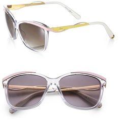 Dior Metal & Plastic Cat's-Eye Sunglasses ($450) ❤ liked on Polyvore featuring accessories, eyewear, sunglasses, apparel & accessories, christian dior sunglasses, cateye sunglasses, plastic sunglasses, cat eye sunglasses and christian dior glasses