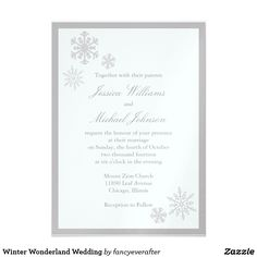 Winter Wonderland Wedding Card Fun wedding invites. Customize invitations for your weddings. #invitations #invites #weddings