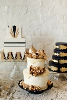 | 1920's | Gatsby | Old Hollywood | Vintage | Art Deco | Wedding Theme | Cake