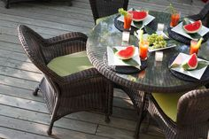 Our traditional Classic Wicker luxury outdoor furniture collection.
