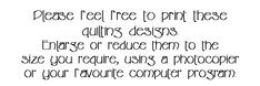 Quilting Design Motifs