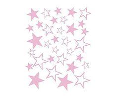 Cosas de niños: Vinilo adhesivo Estrellas, rosa