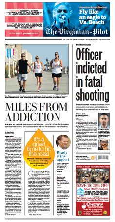 The Virginian-Pilot's front page for Friday, Sept. 4, 2015.