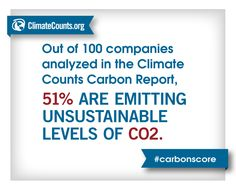 The Carbon Study is here! #CarbonScore by Climate Counts Fact-o-gram #2: Of 100 companies reviewed, most are still not using science-based thresholds to set emissions targets.