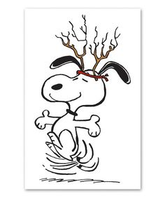 Another great find on #zulily! Snoopy Antlers Gallery-Wrapped Canvas #zulilyfinds