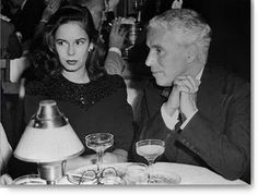 Oona O'Neill and Charlie Chaplin. One of the most fascinating things about Chaplin to me is the relationship he had with his fourth wife, Oona O'Neill. Oona O'Neill was the débutante daughter of famous playwright Eugene O'Neill (and Gloria Vanderbilt's best friend). An aspiring actress, she met Charlie Chaplin when she was 17 and by 18 they were married. Chaplin was 54 years old. They remained married for 40 years and had 8 children, including the actress Geraldine Chaplin.