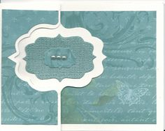 Butterfly flip card.  Outside.  Pearls.  Flap was made longer for room to write.
