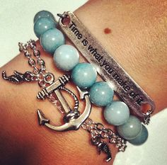 Nautical Inspired Stacking Bracelets Seahorse von CeruleanLife, $18,00