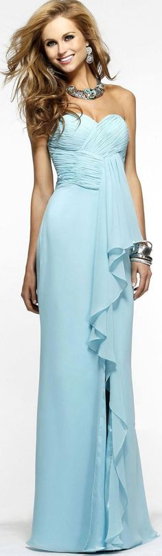 Chiffon Sleeveless Sheath Strapless Floor-length Bridesmaid Dresses