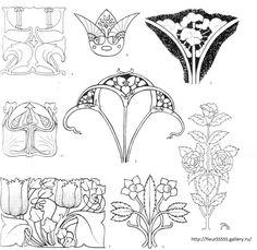 Art nouveau pattern fashion Ideas for 2019 Motifs Art Nouveau, Art Nouveau Mucha, Design Art Nouveau, Motif Art Deco, Art Nouveau Pattern, Art Nouveau Tiles, Art Design, Pattern Art, Illustration Tattoo