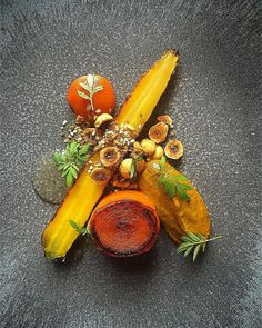 "Daniel Watkins on Instagram: ""Roast & BBQ heritage carrot, purée, ketchup hazelnut dukkah #TheArtOfPlating #saturdaynight #instagood #photooftheday #igers #iphoneonly #instagramhub #picoftheday #instahub #life #iphonegraphy #food #foodporn #gastroart #chefstalk #chefsroll"""
