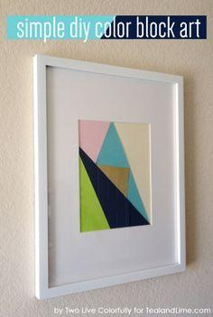 make this | simple color block art