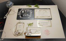 MonRoy / čierno bielo zlatá svadobná sada - pozvánka,menovka,vysačka na víno Scrapbooks, Wedding, Valentines Day Weddings, Scrapbooking, Weddings, Scrapbook, Marriage, Chartreuse Wedding, Guest Books