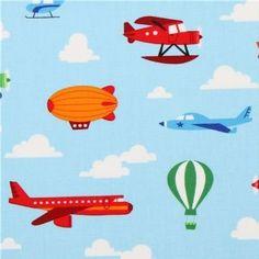 Airplane hot air balloon fabric