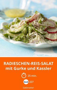 Radieschen-Reis-Salat - mit Gurke und Kassler - smarter - Kalorien: 227 kcal - Zeit: 25 Min. | eatsmarter.de