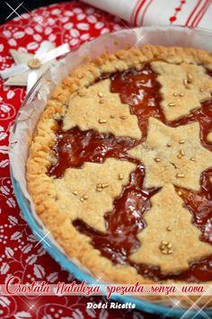 Crostata Natalizia speziata..senza uova! Spice Tarte no eggs #tarte #crostata #noeggs #crostata natalizia