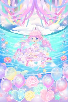 """Rainbow Dream was a Catching Event available from to (First Half from to and Second Half from to with """"Rainbow Fantasy"""" themed rewards. Coco:Rainbow here in Rainbow Town is really pretty. Cartoon Wallpaper Iphone, Kawaii Wallpaper, Cat Character, Rainbow Wallpaper, Rainbow Flowers, Cocoppa Play, Creepy Cute, Cute Chibi, Kawaii Drawings"""
