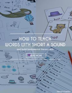 How to Teach Words with Short a Sound from Teach Junkie How to Teach Words with Short a Sound
