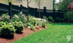 landscaping along fences | ... fence steps along the grade, adding interest to the completed
