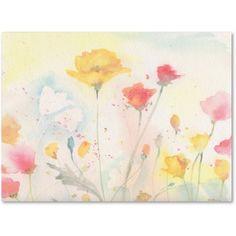 Trademark Fine Art Poppy Festival Canvas Art by Sheila Golden, Size: 35 x 47, Multicolor