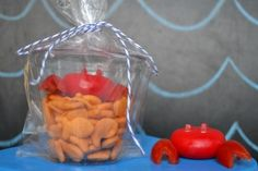 Babybel Crab Snacks for Kids with grape tomatoes for claws