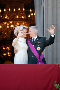 Abdication Of King Albert II & Inauguration Of King Philippe- Balcony Apperance