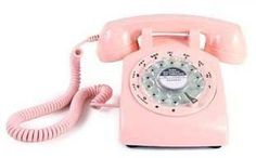 A fantastic pink phone  I need it retro and cute