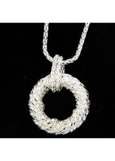 Round Shape Pendant Metal Chain Necklace for Woman on sale only US$7.12 now, buy cheap Round Shape Pendant Metal Chain Necklace for Woman at lulugal.com