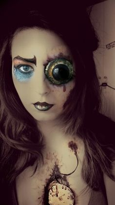 The Mad Hatter  This make up is inspired by Tim Burton's Hatter and the American McGee one. Really odd and with a steampunk vibe!