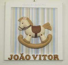 Ateliê do Bebê MG: Quadro Cavalinho de Balanço ( João Vitor )